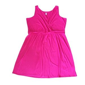 Old Navy Faux Wrap Hot Pink Plus 4X
